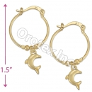 104026 Gold Layered Hoop Earrings