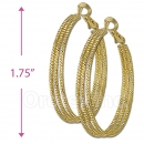 105024 Gold Layered Hoop Earrings