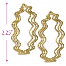 105025 Gold Layered Hoop Earrings