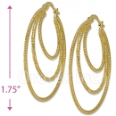 105026 Gold Layered Hoop Earrings