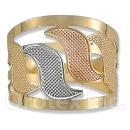 Orotex Gold Layered Tri-color Ring