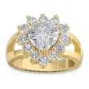 119024 Gold Layered CZ Women's Ring