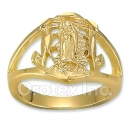 Oro Tex Gold Layered Guadalupe Men's Ring