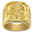 Oro Tex Gold Layered Jesus Men's Ring