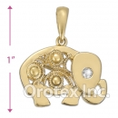 45465 Gold Layered CZ Charm