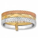 R003 Gold Layered Tri Color Women's Ring