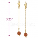 020011 Gold Layered Stone Earrings