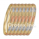 B010 Gold Plated Tri color Bangle
