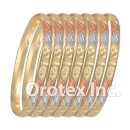 B011 Gold Plated Tri color Bangle