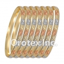 B012 Gold Plated Tri color Bangle