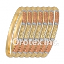 B013 Gold Plated Tri color Bangle