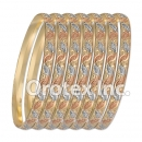 B014 Gold Plated Tri color Bangle