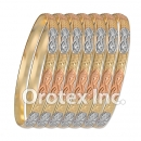 B016 Gold Plated Tri color Bangle