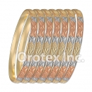 B017 Gold Plated Tri color Bangle