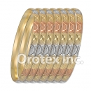 B018 Gold Plated Tri color Bangle
