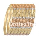 B019 Gold Plated Tri color Bangle