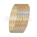 B035 Gold Plated Tri-Color Bangle