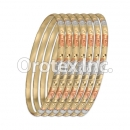 B036 Gold Plated Tri-Color Bangle