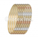 B040 Gold Plated Tri-Color Bangle