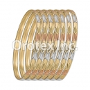 B046 Gold Plated Tri-Color Bangle