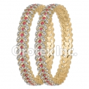 B085 Gold Layered CZ Bangle
