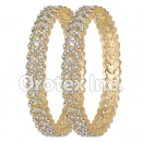 B087 Gold Layered CZ Bangle