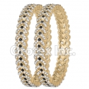 B088 Gold Layered CZ Bangle