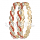 B091 Gold Layered CZ Bangle