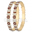 B096 Gold Layered CZ Bangle