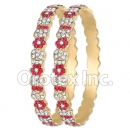B097 Gold Layered CZ Bangle