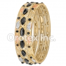 B099 Gold Layered CZ Bangle