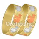 B165 Gold Layered Tri-Color 20MM Bangle