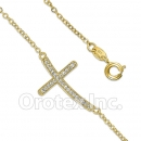 BN 004 Gold Layered CZ Bracelet