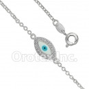 BN 006 Silver Layered Eye Bracelet