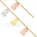 BN 007 Gold Layered Tri- Color Bracelet