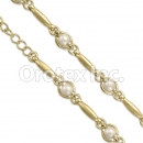 BN 017 Gold Layered Pearl Bracelet