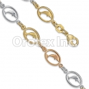 BR016 Gold Layered Tri Color Bracelet