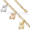 BR031 Gold Layered Tri Color Bracelet