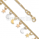 BR044 Gold Layered Tri Color Kids Bracelet
