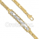 BR062  Gold Layered Two Tone Bracelet