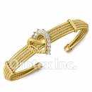 CB 001 Orotex Gold Layered CZ Cuff Bangle