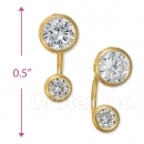 CH 412 Gold Layered CZ Stud Earrings