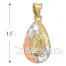 CH26-10 Gold Layered Tri-Color Charm
