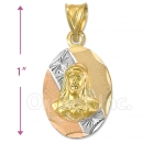 CH26-6  Gold Layered Sagrado Corazon Charm