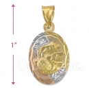 CH26-9  Gold Layered Baptism Charm