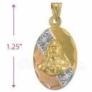 CH27-3  Gold Layered Sagrado Corazon Charm