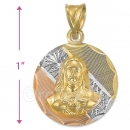 CH27-5  Gold Layered Sagrado Corazon Charm