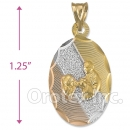 CH270  Gold Layered Tri-color First Communion Charm