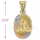 CH33-0  Gold Layered Sagrado Corazon Charm