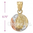 CH33-8 Gold Layered Tri-Color Charm